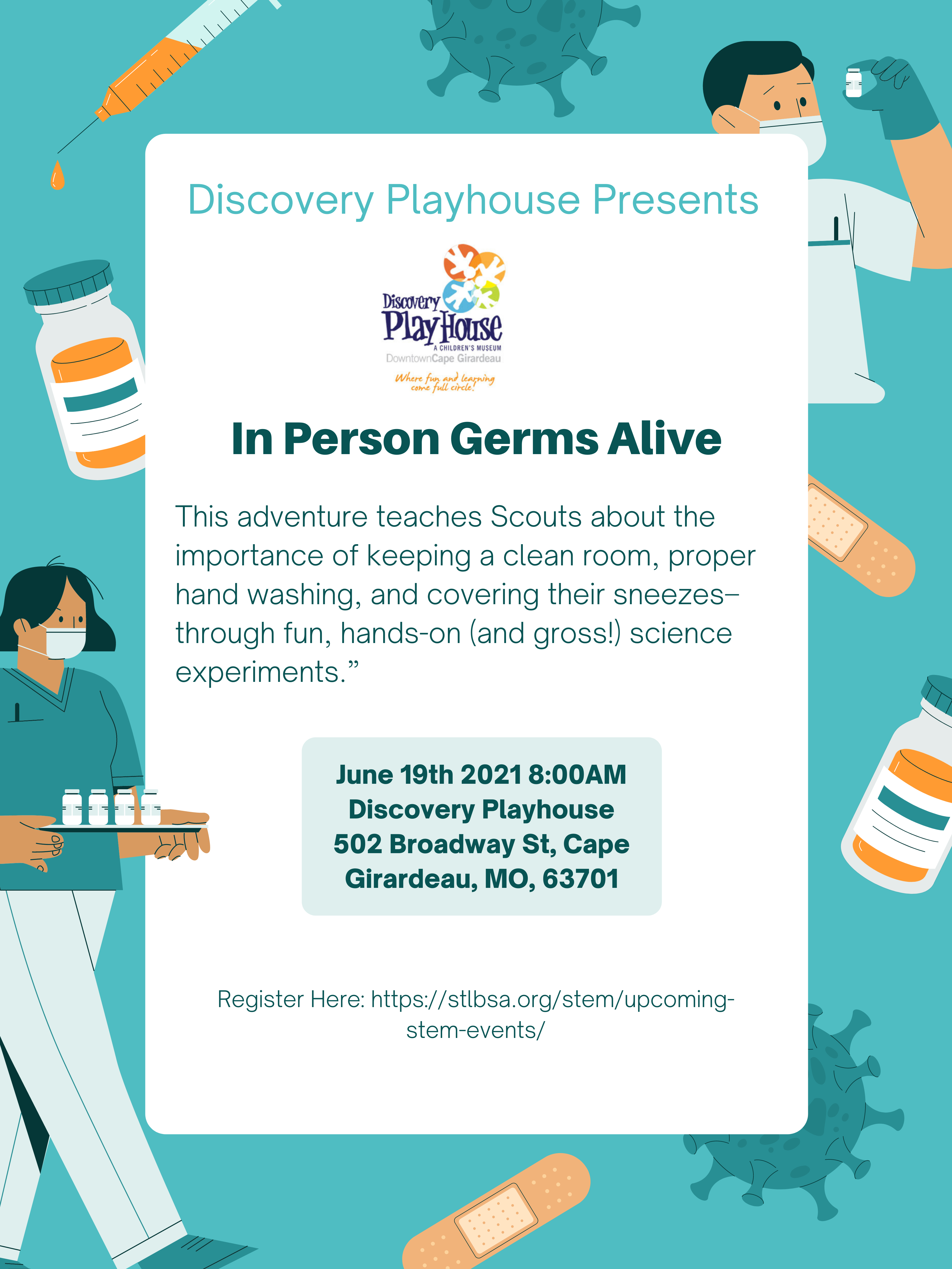 Discovery Playhouse Germs Alive